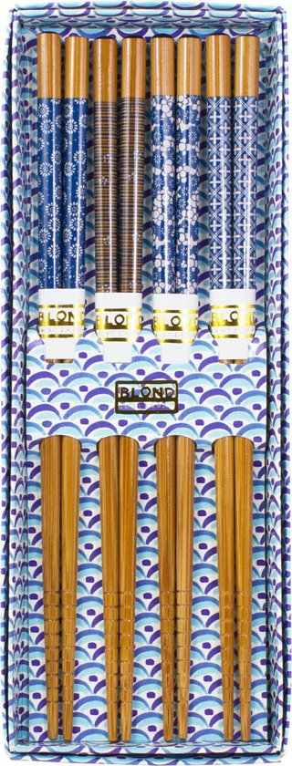 Blond Amsterdam Asia Chopsticks - Bamboe - 4 Stuks Valentinaa