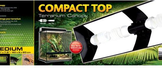 Exo Terra - Compact Terrarium Lichtkap Medium - 60x20x9cm