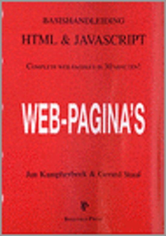 Basishandleiding html en javascript - Jan Kampherbeek pdf epub