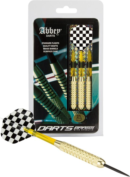 Abbey Darts Darts - Brass - Zwart/Wit - 21