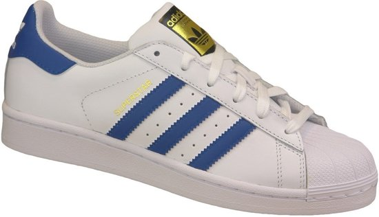 adidas superstar wit en blauw