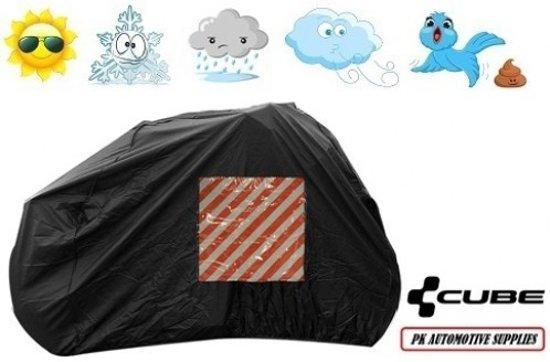Fietshoes Zwart Met Insteekvak Polyester Cube Touring Hybrid One 500 2018 Lage Instap