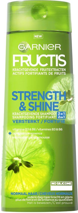 Garnier Fructis Strength & Shine 2in1 Shampoo - 250 ml - Normaal haar