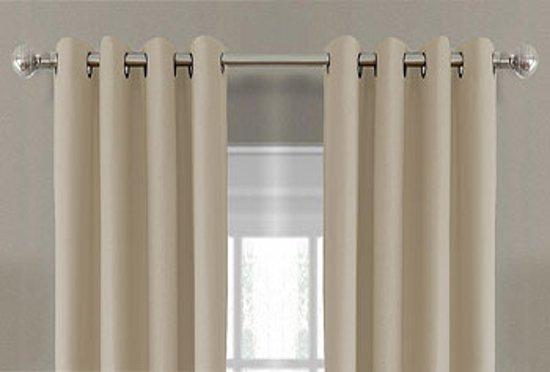 luxe verduisterende gordijnen 150x250 cm ringen licht taupe