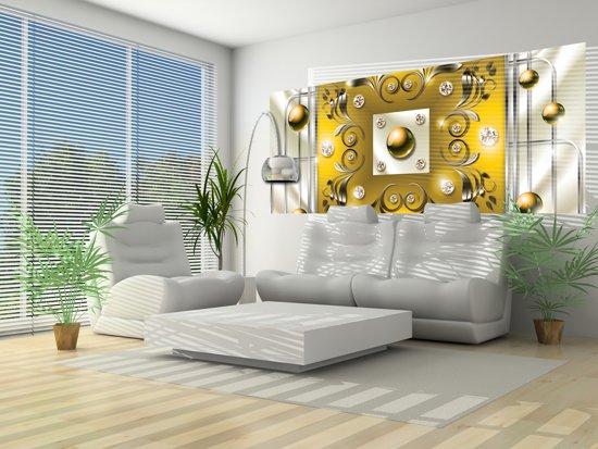 bol.com   Fotobehang Modern, Slaapkamer   Zilver, Geel   250x104cm