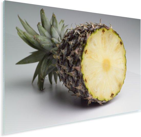 Gehalveerde ananas Plexiglas 120x80 cm - Foto print op Glas (Plexiglas wanddecoratie)