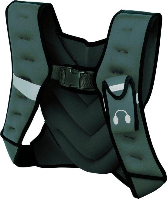 Tunturi Gewichtvest - Verstelbaar - Gewichtsvest hardlopen - 5 kg - Grijs