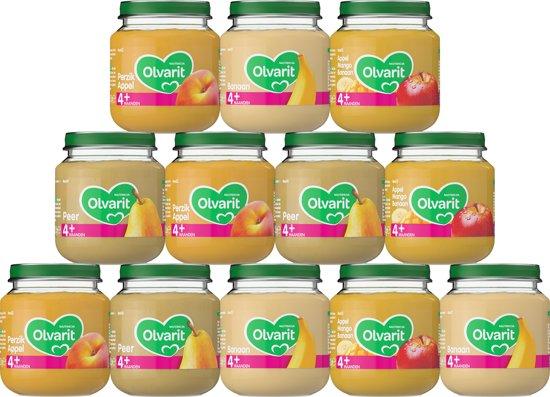 Olvarit Variatiemenu Fruit - 4 maanden - 12 stuks