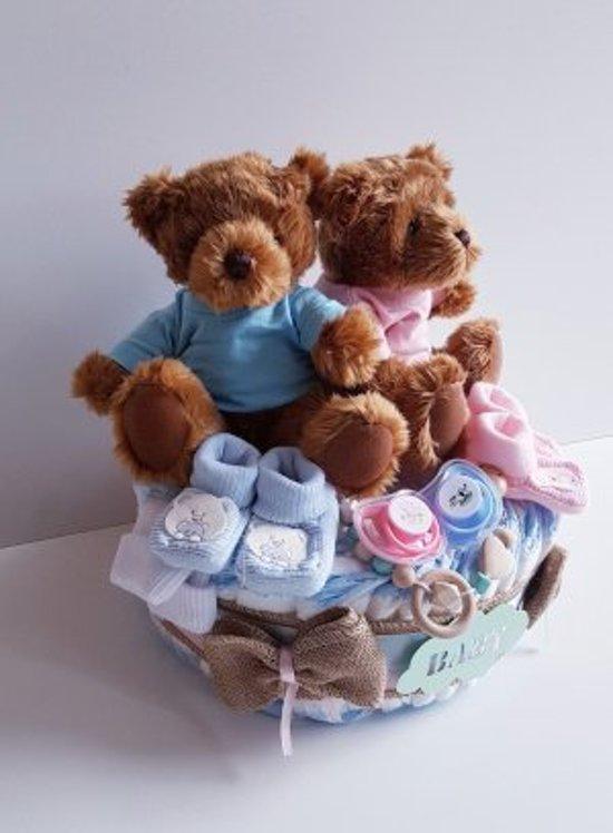 Luiertaart Gender Reveal/ Tweelingen Beertjes | Kraamcadeau | Kraampakket | Baby Cadeau