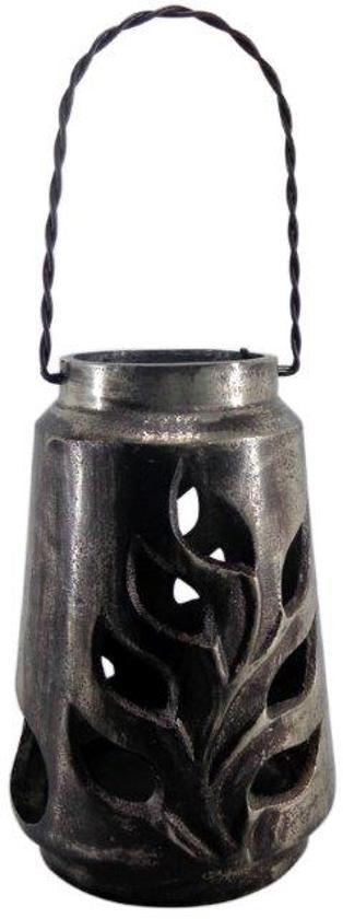 Deco4yourhome - Windlicht - 24cm - Silver Antique