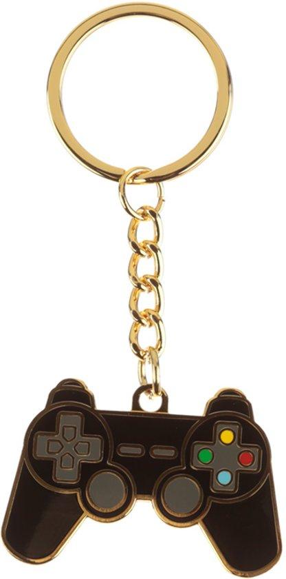 Sleutelhanger controller – Game over – Metaal – Zwart en goud