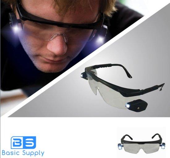 bol.com | Basic Supply Safety Glasses - Veiligheidsbril met LED ...