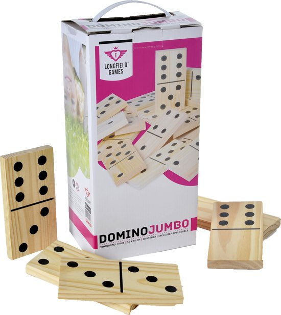 Afbeelding van het spel Longfield Games Domino Jumbo - Hout