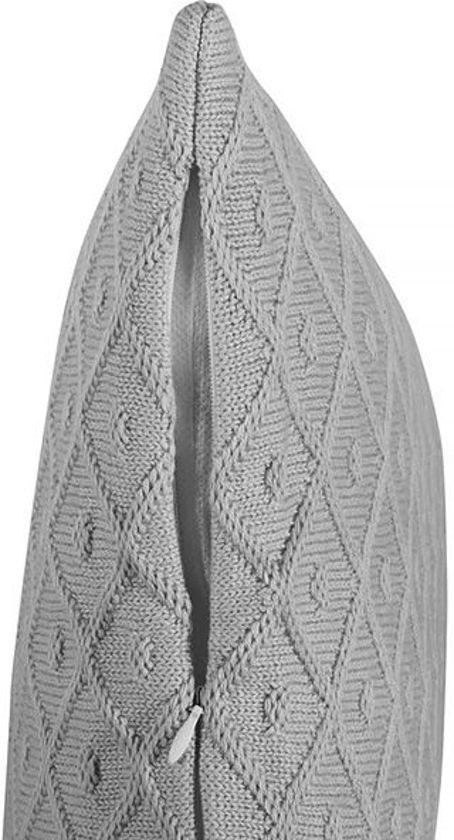 Jollein Diamond Knit - Grijze Wiegdeken 75x100 cm - Grijs