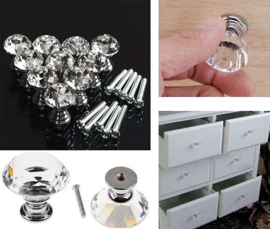Kastknoppen Set Kast Ladeknop Kastgreep Keuken Handgrepen Kristalvormig
