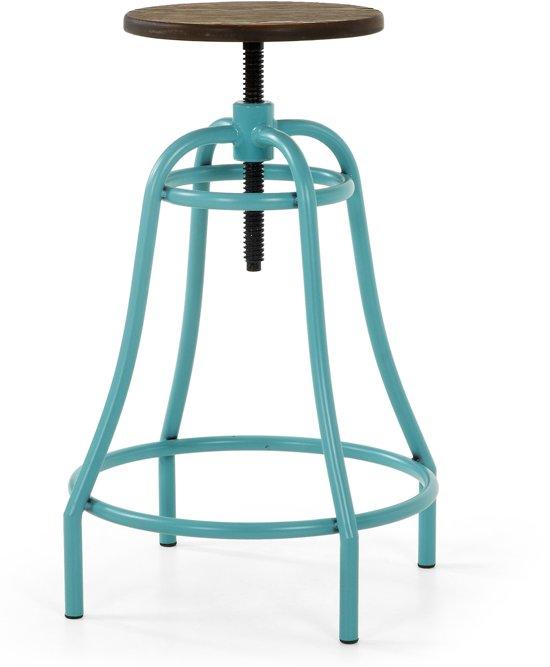 Kave Home Malibu - Barkruk - Metallic Turquoise - Set van 2