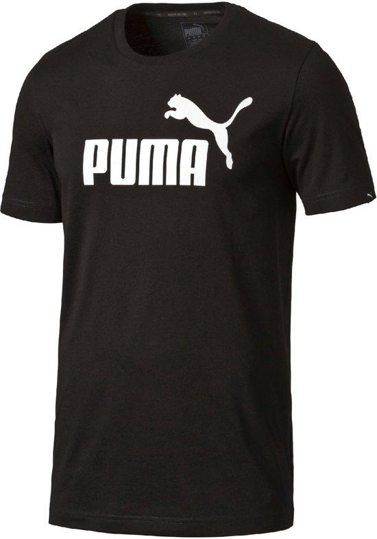 Puma Ess. No.1 Tee T-shirt Heren Sportshirt - Maat M  - Mannen - zwart/wit