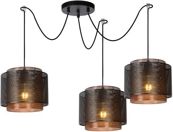 Lucide ORRIN - Hanglamp - Ø 25 cm - E27 - Zwart