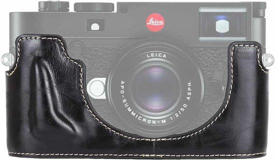 1/4 inch draad PU lederen camera half behuizing basis voor Leica M10 (zwart)