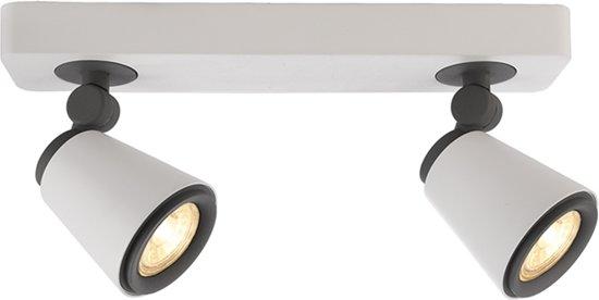bol.com | Zoomoi - spotjes plafondlamp - woonkamer - GU10 - mat wit ...