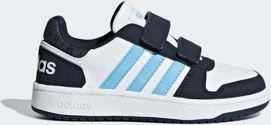 87b1c8c64d7 adidas Hoops 2.0 CMF C Sneakers Kinderen - Ftwr White/Bright Cyan/Legend Ink