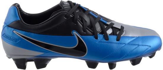 Nike T90 Laser  - Voetbalschoenen - 41 - Blauw;Zwart;Silver