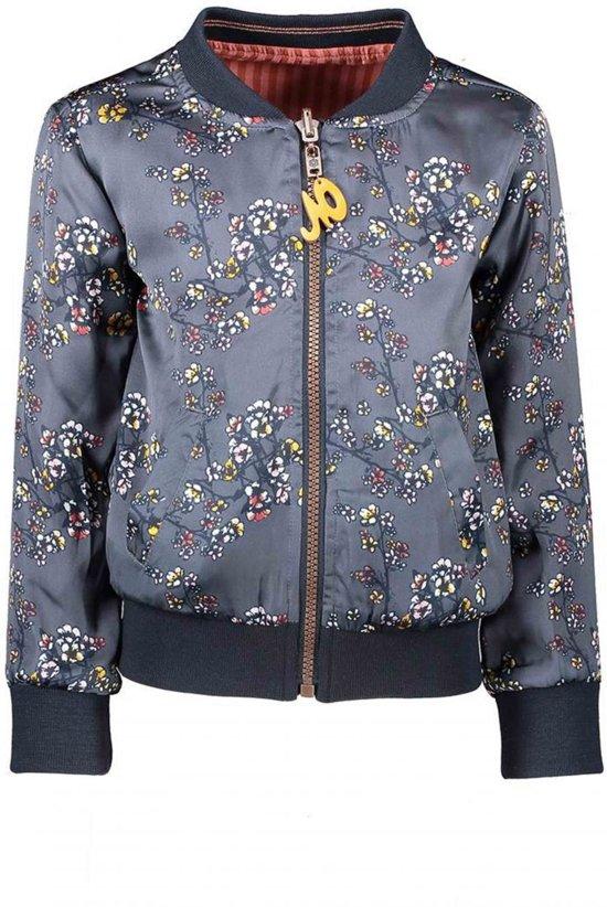 NONO Meisjes truien & vesten NONO DonnaB reversible indoor jacket aop grijs 146/152
