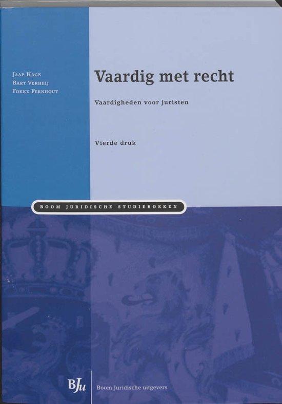 Boom Juridische studieboeken Vaardig met recht