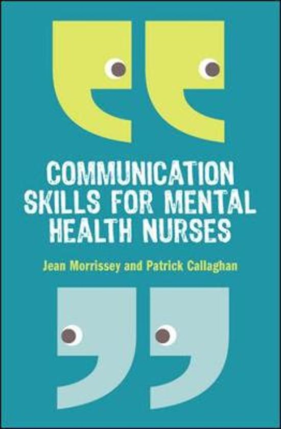 Bol Communication Skills For Mental Health Nurses Jean