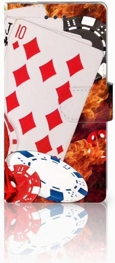 Huawei Ascend P8 Lite Uniek Ontworpen Cover Casino in Louette-Saint-Pierre