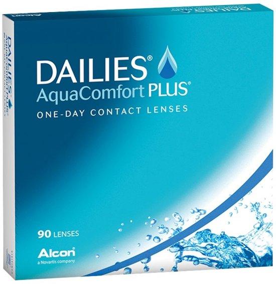 +6,00 - Dailies Aqua Comfort Plus - 90 pack - Daglenzen - Contactlenzen