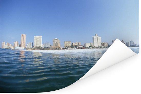 Prachtige blauwe lucht boven Durban Poster 180x120 cm - Foto print op Poster (wanddecoratie woonkamer / slaapkamer) XXL / Groot formaat!