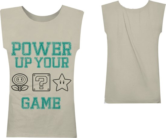Nintendo - Beige. Power Up Your Game Top - XL