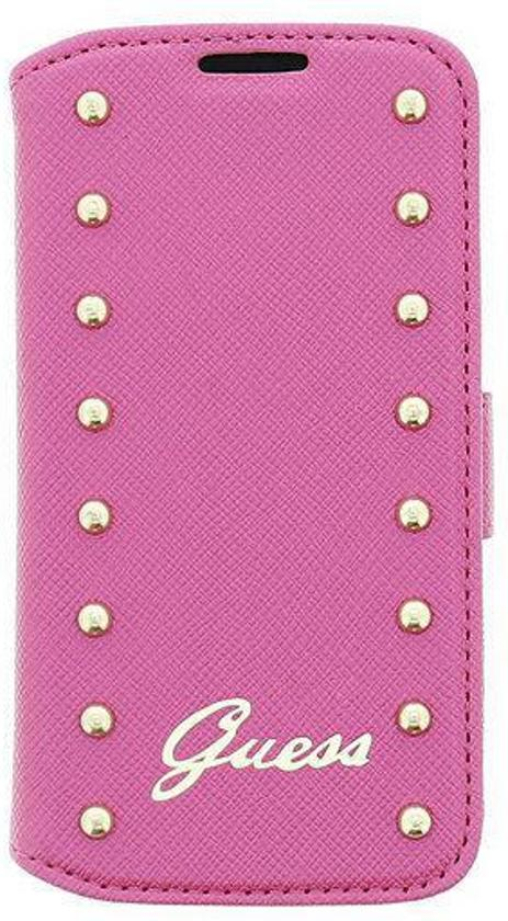 !Guess Studded Samsung Galaxy S4 Mini Flip Case Pink