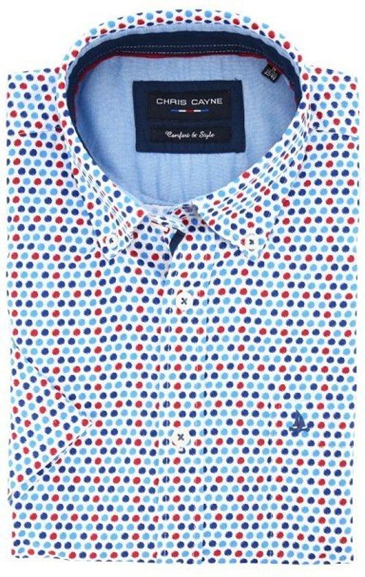 Rode Overhemd.Bol Com Chris Cayne Overhemd Korte Mouw Rode Dots Xxl Maat Xxl
