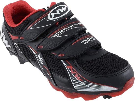Northwave Northwave Vega Mountainbike  Fietsschoenen - Maat 39 - Unisex - zwart/rood/wit