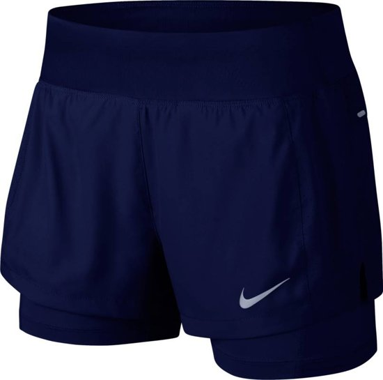 Nike Eclipse 2In1 Short Sportbroek Dames - Blue Void/Blue Void - Maat M