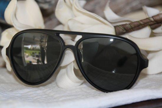 a4b3d3f633b22b BY-ST6 prachtige mat zwarte zonnebril met zwart glas