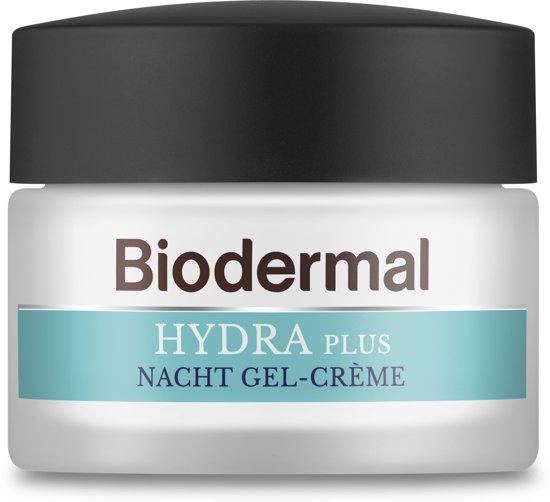 Biodermal Hydra Plus nachtcrème gel - Vochtinbrengende crème - 50ml