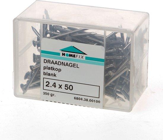 Draadnagels pk 2,4x 50 bl(350)