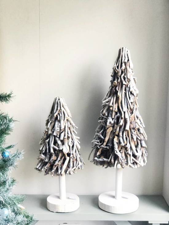 Sweet Living Kerstboom Sidell Wit - Ø35xH100 cm