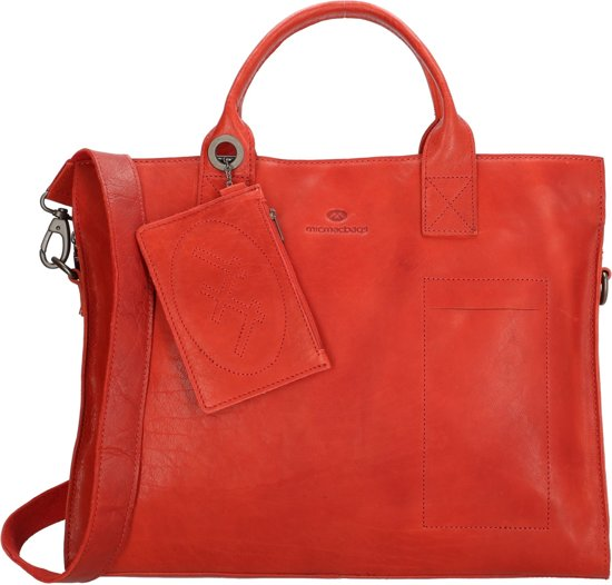 Micmacbags Golden Gate laptoptas 15.6 inch red