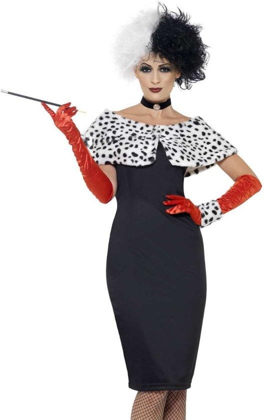 """""""Verkleedkostuum voor dames sexy Cruella Halloween kledij - Verkleedkleding - Medium"""""""