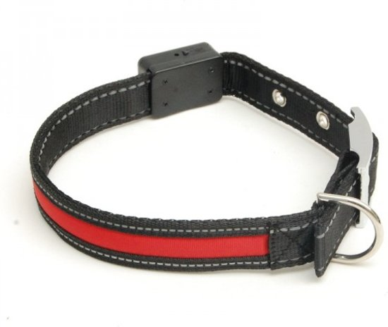 bol.com   Hondenhalsband met LED verlichting gesp-sluiting (43-56cm)