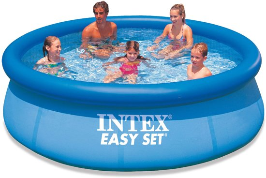 Intex easy set pool zwembad 305 x 76 cm for Zwembad tuin intex