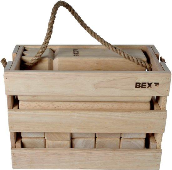Bex Kubb Viking Original In Houten Kist - Rubberhout