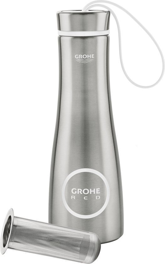 Storslåede bol.com | GROHE Red Thermo Drinkfles - 450 ML - Met thee filter UP02