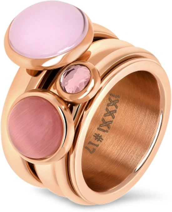 iXXXi JEWELRY complete ring - Rosegoud gekleurd - Maat 18