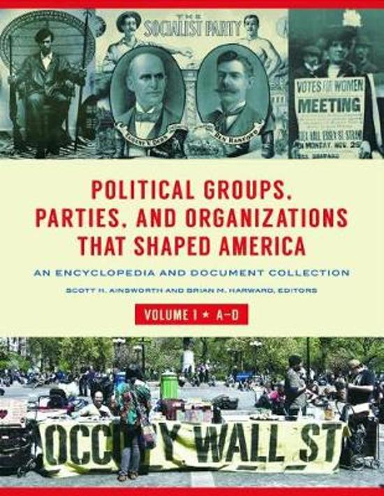 Political Groups, Parties, and Organizations That Shaped America [3 volumes]