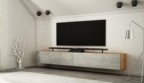 Az Home Tv Meubel Tv Kast Hardy Xl 280 Cm Eiken Betonlook
